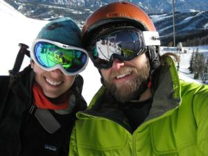 Melissa Protz and I at Big Sky